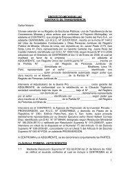 PROYECTO MICHIQUILLAY - Proinversión