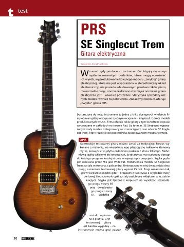 PRS SE Singlecut Trem - FX-Music Group