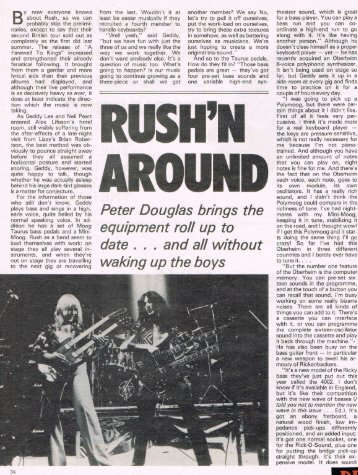 Rush'n Around - Cygnus-X1.Net