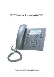 DECT Feature Phone Model 700 - Viva