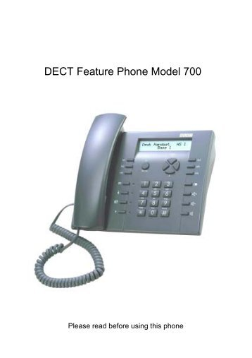 DECT Feature Phone Model 700 - Viva