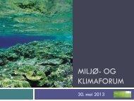 MILJØ- OG KLIMAFORUM - Helse Vest