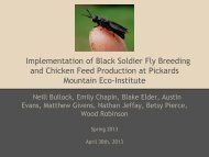 bsfl presentation - Institute for the Environment at UNC