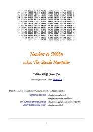 N&O #165 - Numbers & Oddities