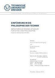einführungindie philosophiedertechnik - Technische Universität ...