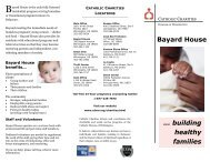 … building healthy families Bayard House - the Catholic Diocese of ...