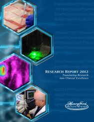 RESEARCH REPORT 2012 - Henry Ford Health System