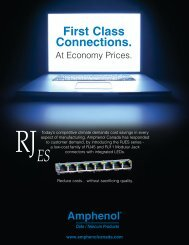First Class Connections. - Amphenol Canada
