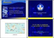 ICT IN THE CLASSROOM: A CASE STUDY OF INDONESIA Indonesia