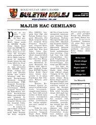 Buletin Kolej Edisi Julai 2007 - Jabatan Pelajaran Negeri Kedah