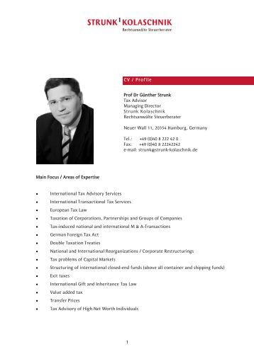 Detailed Profile Prof. Dr. Günther Strunk - Strunk-kolaschnik.de