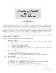 Creating a Digital Family Photo Album - Washington Family History ...