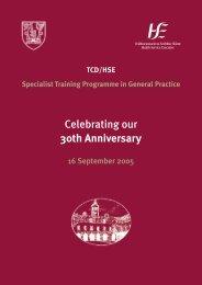 Celebrating-30-years.. - School of Medicine - Trinity College Dublin