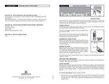 Turbo Temp 2 - MSDS.pdf - Danville Materials