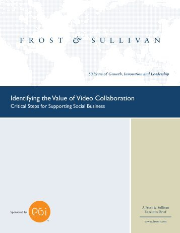 Identifying the Value of Video Collaboration: Critical Steps for ...