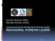 INAUGURAL KOREAN LEARN