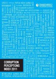 CORRUPTION PERCEPTIONS INDEX 2011 - DeLoG