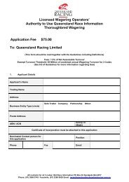 Application Form – Thoroughbreds Queensland - Greyhounds ...