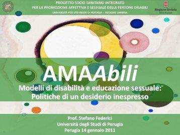 Modelli di disabilità e educazione sessuale: Politiche ... - CognitiveLab