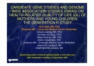 CANDIDATE GENE STUDIES AND GENOME WIDE ASSOCIATION ...