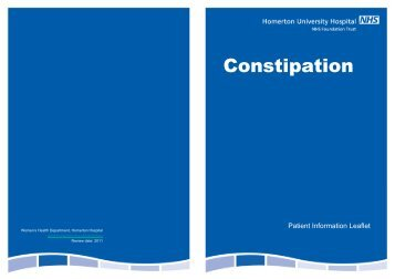 Microsoft PowerPoint - Constipation.ppt - Homerton University Hospital
