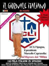 ACLI Spagna, il presidente Marcello Caprarella: - Il Giornale Italiano