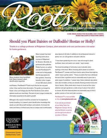 Should you Plant Daisies or Daffodils? - Ridgetown Campus ...