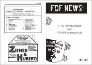 FCF News 07/2011 - 1.FC Frimmersdorf