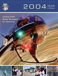 San Diego County Sheriff's Department 2004 Annual Report