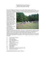 Graves (Elijah) Family Cemetery - RootsWeb