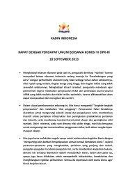 kadin indonesia rapat dengar pendapat umum bersama komisi vi ...