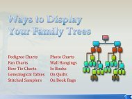 Ways to Display Your Family Tress - RootsWeb - Ancestry.com