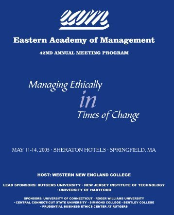2005 Springfield, MA - Eastern Academy of Management