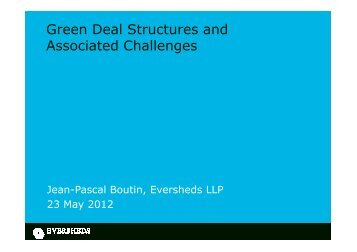 Green Deal Structures and Associated Challenges - Sustainability Live