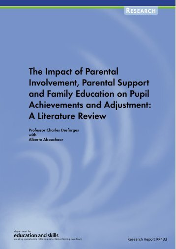The Impact of Parental Involvement, Parental Support and Family ...
