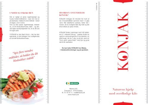 Naturens hjælp mod overflødige kilo - Mezina A/S