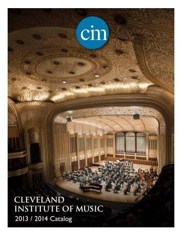 CIM Catalog - Cleveland Institute of Music