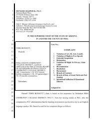 Read Terri Bennett's entire legal complaint here.