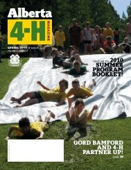 Alberta 4-H Magazine - Spring 2010 - Agriculture and Rural ...