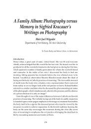 A Family Album: Photography versus Memory in Sigfried Kracauer's ...