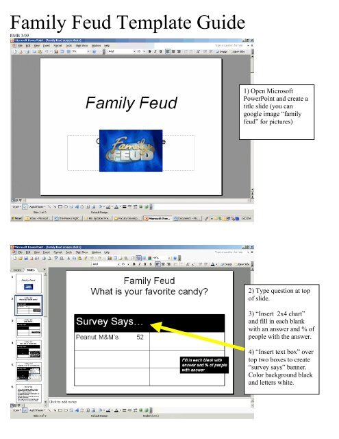 Family Feud Template Guide Cffquakers