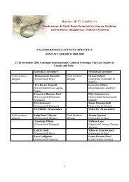 Scarica il calendario delle lezioni a.a. 2008/2009 - Master di II livello ...