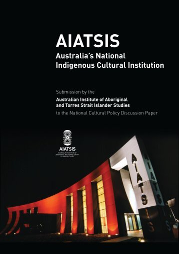 Submission 212: AIATSIS - Creative Australia - Office for the Arts