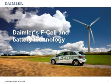Daimlers Activities within Fuel Cell Vehicles - Zero