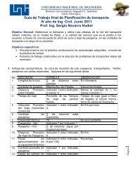 Guía de Trabajo final de Planificación de transporte IV año de Ing ...