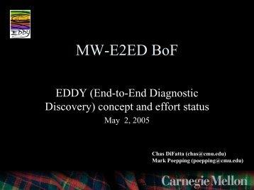 MW-E2ED BoF - Internet2 Middleware Initiative