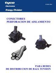 CONECTORES PERFORACION DE AISLAMIENTO