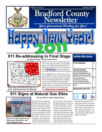 January 5, 2011 - Bradford County, PA