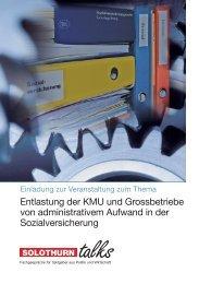 Entlastung der KMU und Grossbetriebe von administrativem ... - AKSO