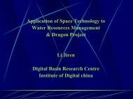 Application of Space Technology to Water Resources ... - FutureWater